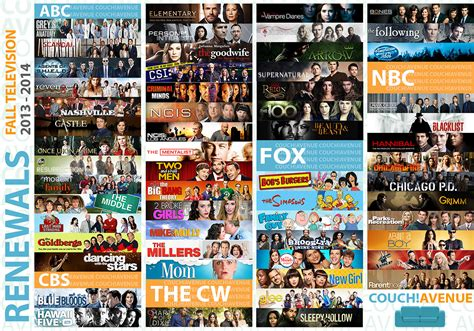 cancelled renewed tv shows in fall 2014 2015 season image gallery 2013 2014 tv shows