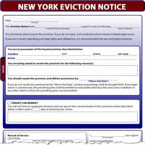 nys will template new york eviction notice