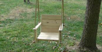 Wood chair patio tree swing 16 inches wide seat wood tree swings