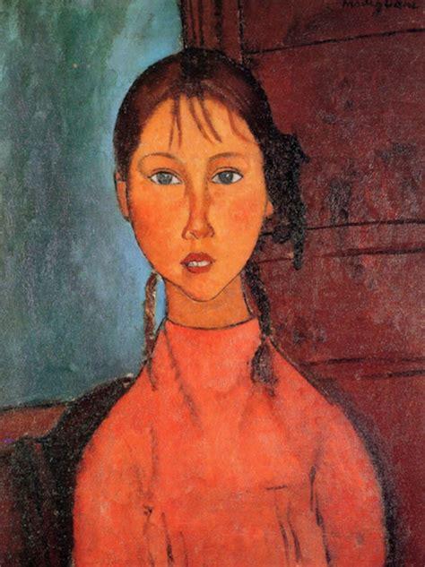 modigliani woman with a modigliani with plaits modigliani canvas