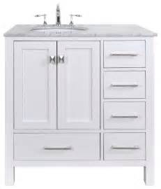 White Vanity 36 Inch Malibu White Single Sink 36 Inch Bathroom Vanity