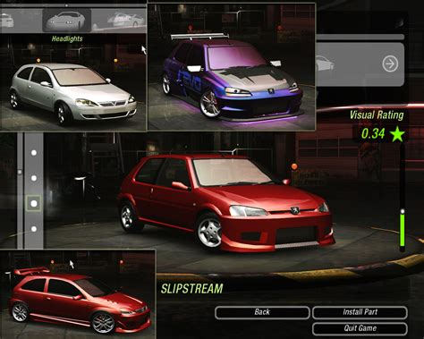 mod game need for speed underground 2 nfs ug2 us to uk european convert add peugeot 106 and