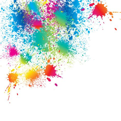 bright color splatter vector freevectors net