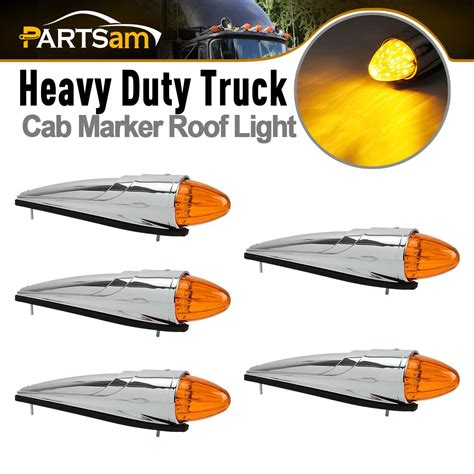 semi truck light assembly 5x 17led semi truck roof cab marker clearance light
