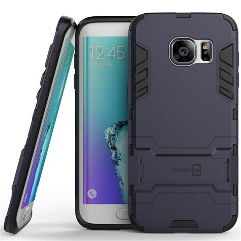 Samsung Galaxy S7 Edge Tough Hybrid Armor Casing Bumper Cover coveron 174 for samsung galaxy s7 edge hybrid stand armor phone cover ebay