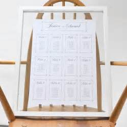 Wedding Table Plan Ideas Chain Wedding Table Plan By Says I Do Notonthehighstreet