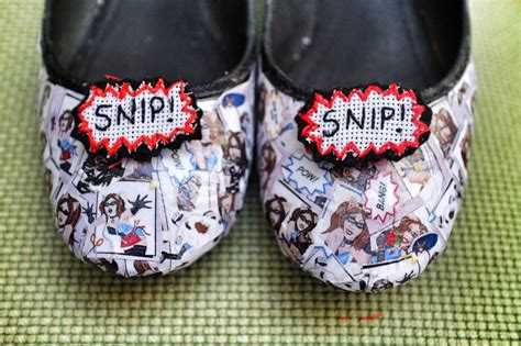 crafterella comic shoes 183 how to make a pair of decoupage