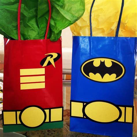 Goodie Bag Paper Bag Batman batman robin gift bags