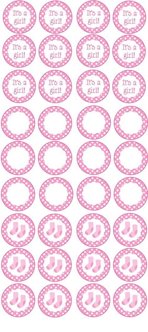 templates for baby shower cupcakes free printable girl baby shower cupcake toppers ideas