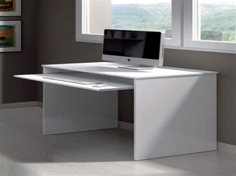 Small White Computer Desk With Keyboard Tray Brubaker Small White Computer Desk