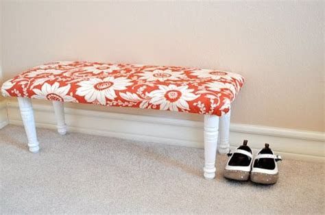diy padded bench pinterest