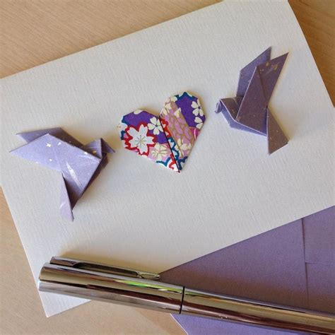 Cool Origami Cards - 25 best ideas about origami cards on origami