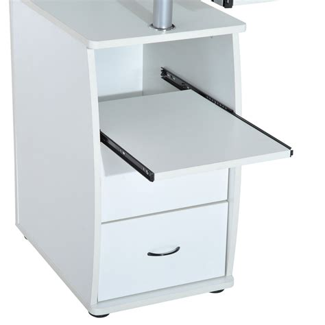 ordenador escritorio homcom 174 mesa de ordenador escritorio para oficina blanco