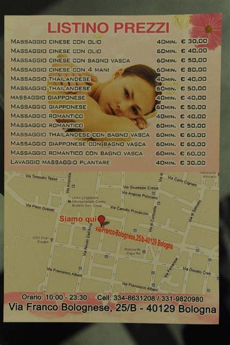 massaggi cinesi a pavia bologna sigilli a un centro massaggi a rosse il