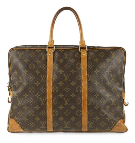 louis vuitton porte voyage documents monogram brown coated