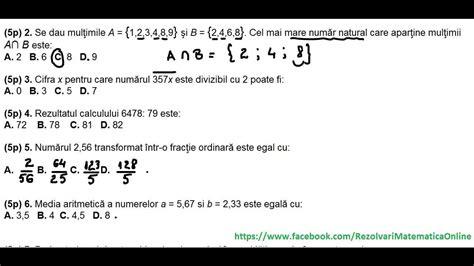 test matematica clasa a vi a test initial 1 partea i