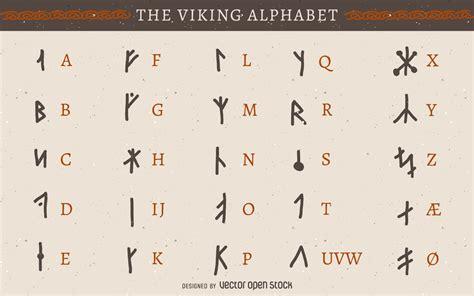 printable runic alphabet viking viking rune alphabet vector download