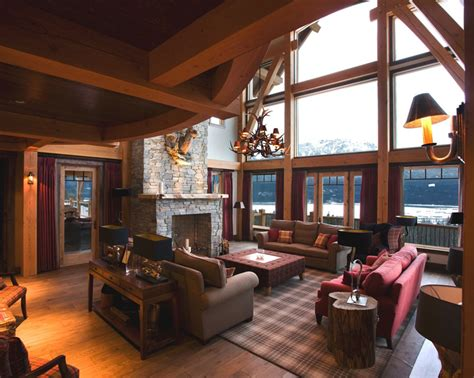 mountain home interiors mountain lodge interior design hotel british