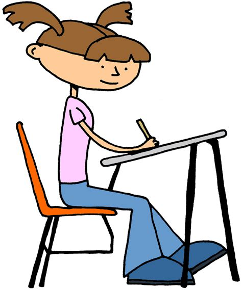Cartoon Student Desk Cliparts Co Student In Desk Clipart