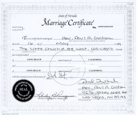 Marriage License In Las Vegas Records Las Vegas Marriage License Images Frompo 1