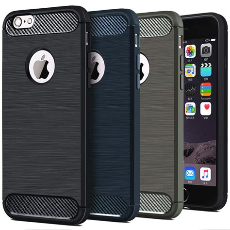 Softcase Remax For Iphone 7 tpu silicone carbon fiber for iphone 7 8 black