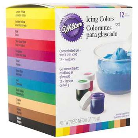 wilton icing colors 12 count wilton icing colors set hobby lobby 776005