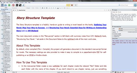 Scrivener Templates scrivener template for outlining and structuring your