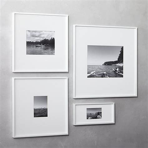 black picture frames with white matting gallery white picture frames cb2