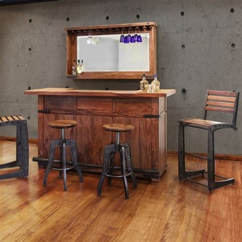 Cribs Without Bars by Live Edge Parota Bar