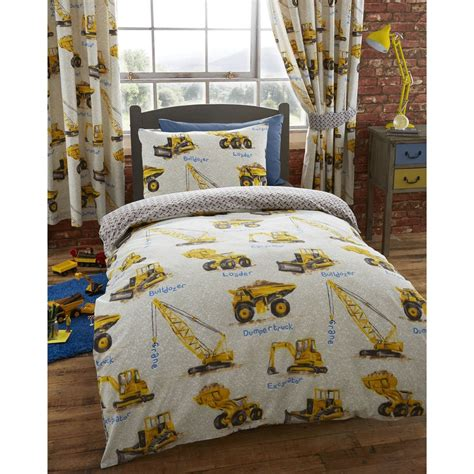 Construction Bed Set Construction Duvet Covers Various Designs Available In Single Bedding Ebay