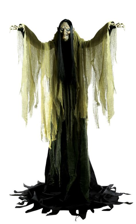 halloween life size animated hagatha  towering witch