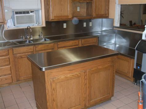 Stainless Steel Countertops DIY. DIY Stainless Steel