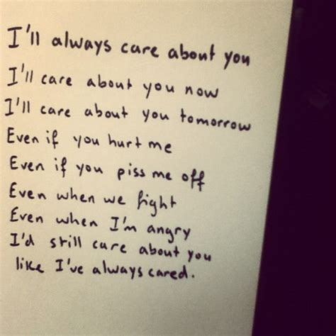 i care about you quotes because i care about you quotes quotesgram
