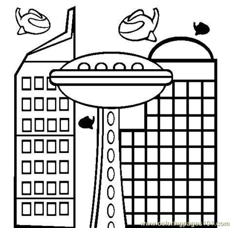 free printable coloring page building architecture