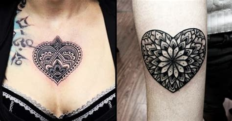 tattoo mandala heart 8 lovely heart mandala tattoos tattoodo