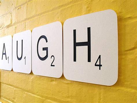 large scrabble pieces live laugh scrabble wall tiles by copperdot