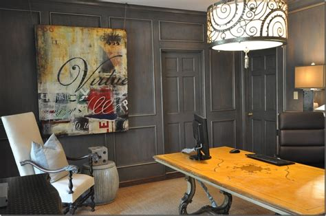 Masculine Office Decor by Designing A Masculine Home Office