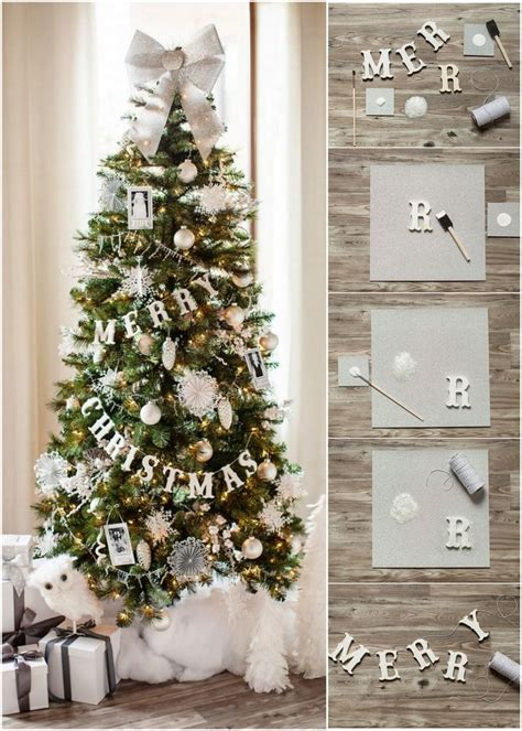 diy merry christmas banner for a christmas tree decoist