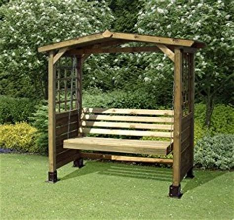 solid 3 seater garden arbour tanalised outdoor bench the poseidon wooden swingseat outdoor garden timber arbour