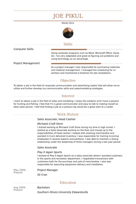 Sle Cashier Manager Resume Cashier Resume Sles Visualcv Resume Sles Database