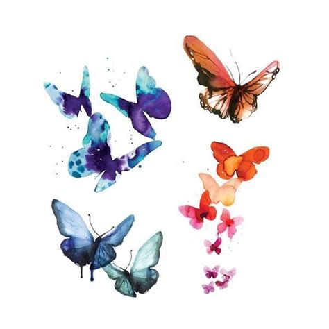 watercolor tattoo long term the 25 best watercolor butterfly ideas on
