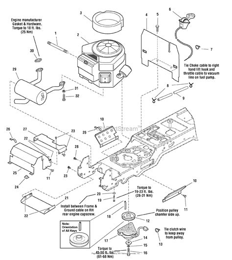 moving engine diagram simplicity 1694233 prestige 20hp hydro tractor only