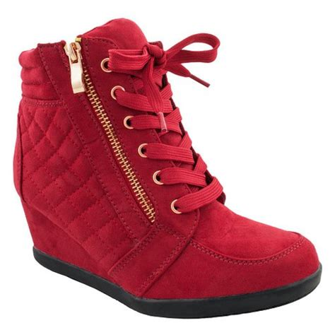 buy new fashion sneakers high top lace wedge