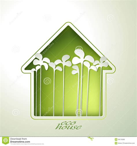 template card photo home house green house invitation stock photo image 39179290