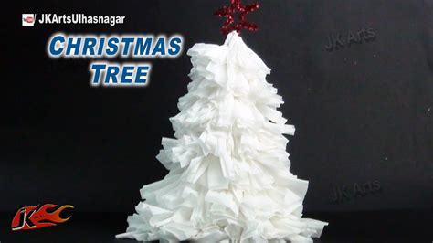christmas decorations with tissue paper how to make tissue paper tree diy decorations jk arts 789
