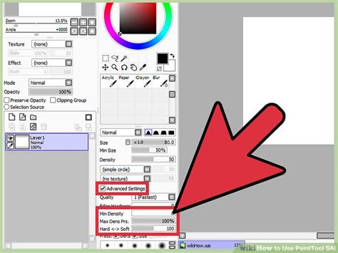 paint tool sai how to change line color how to use painttool sai 10 steps with pictures wikihow