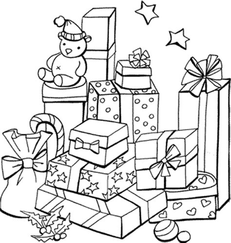 printable gift coloring page presents coloring page az coloring pages