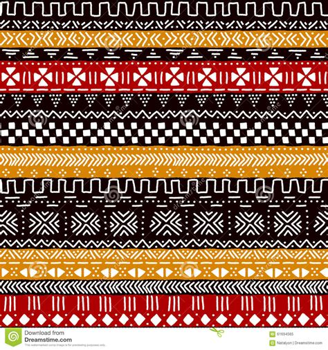 africa vector traditional background pattern black red yellow and white traditional african mudcloth