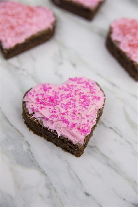 valentines brownies valentine s day frosted shaped brownies recipe