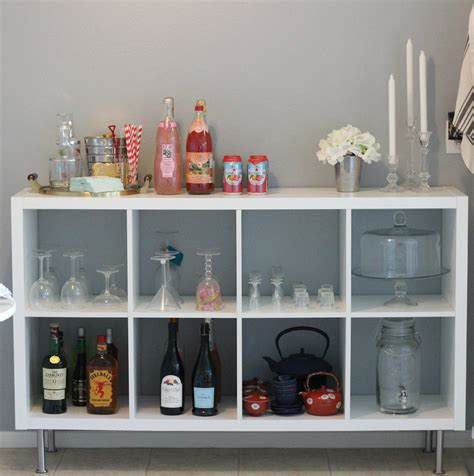 ikea bookshelf to barcart daily dose of